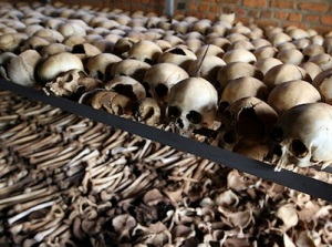 The unburied bones of victims of the Rwandan Genocide (Image by Flickr)